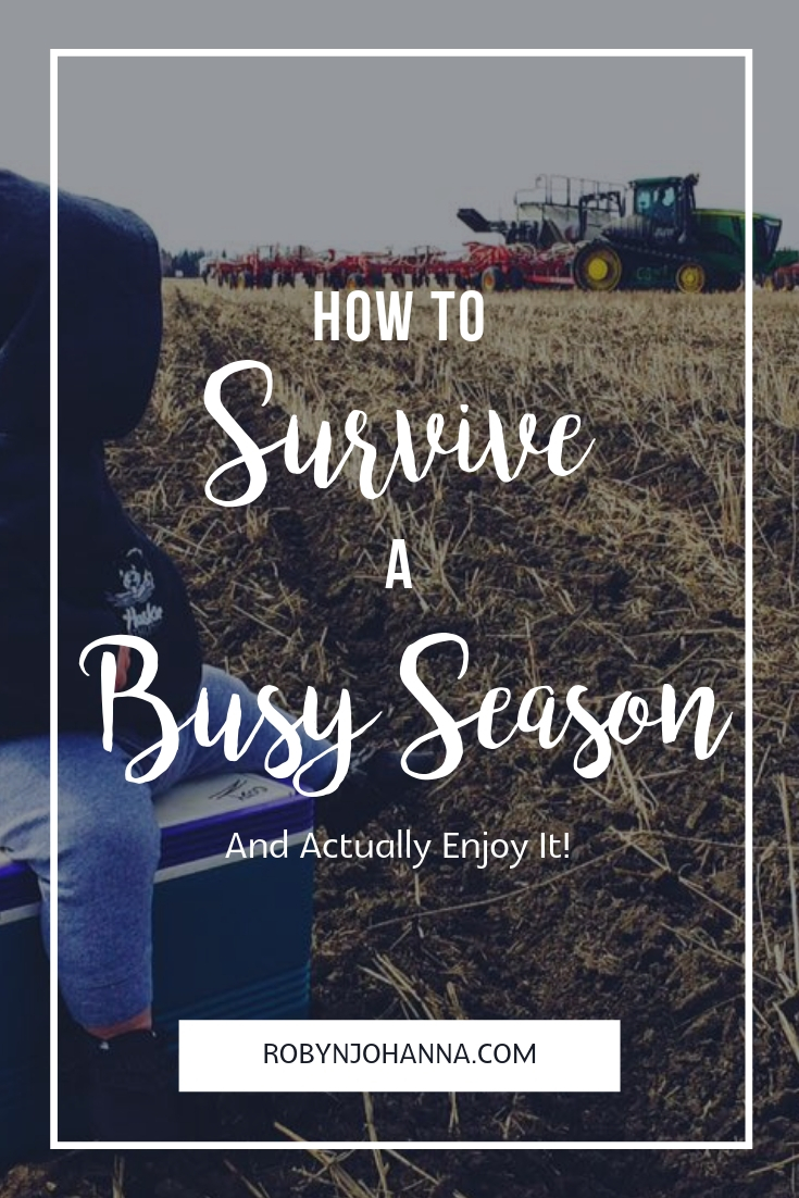 Are you rounding the corner on life's busy season? Here are my top five tips on how to survive a busy season and actually enjoy it. #newborn #farmwife #busy