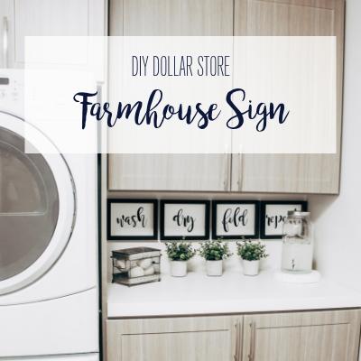 DIY Dollar Store Farmhouse Sign