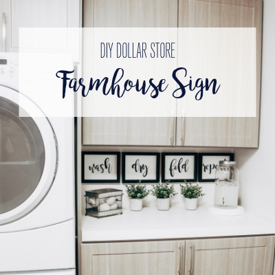 DIY Dollar Store Farmhouse Sign
