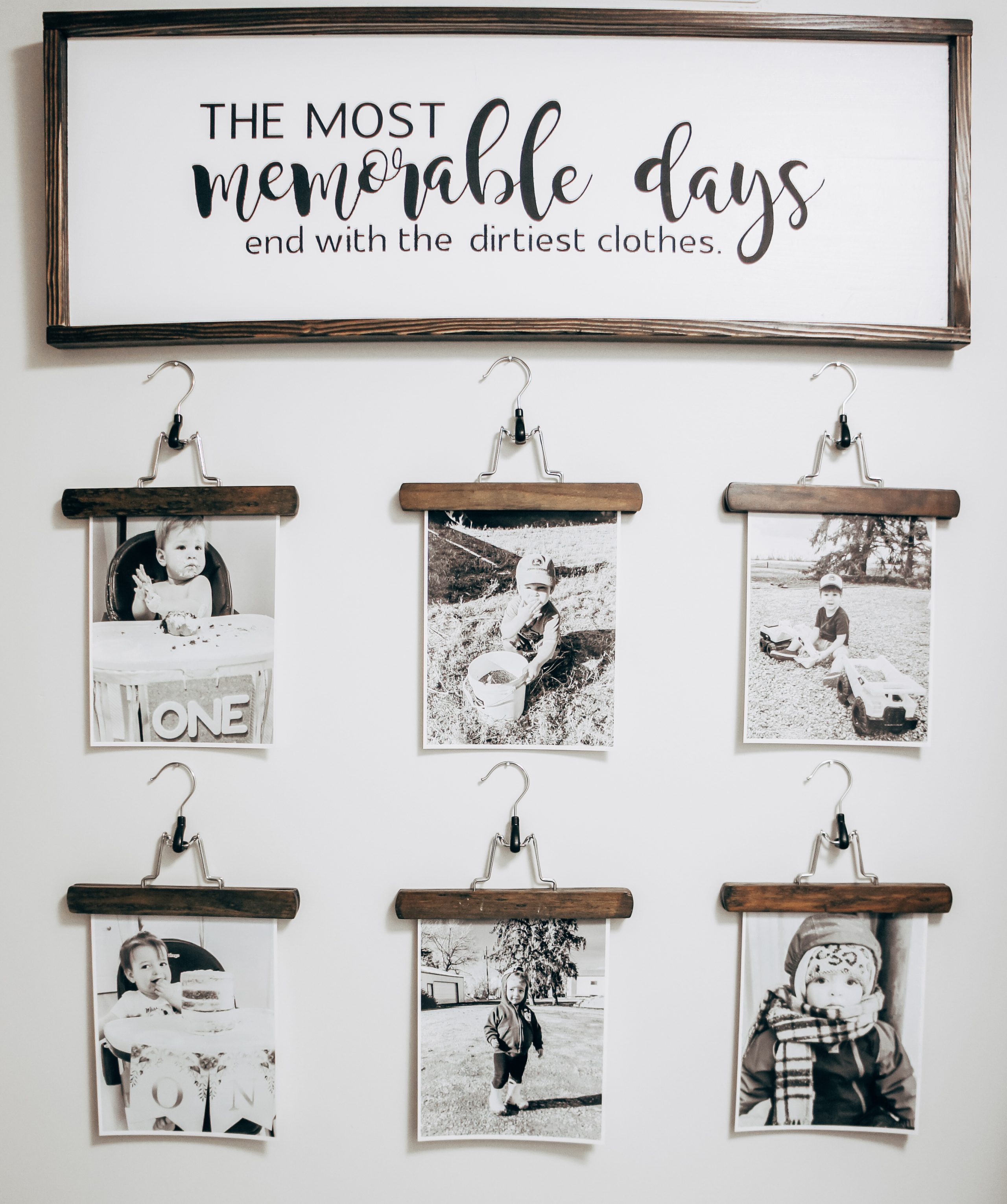 Do you love those farmhouse signs? You know the ones with the wood frame, white background and your favourite saying. Today I am going to show you how to DIY a farmhouse sign for a fraction of the price! #diylaundryroom #diydecor #farmhousedecor #diyhomedecor #laundryroominspo