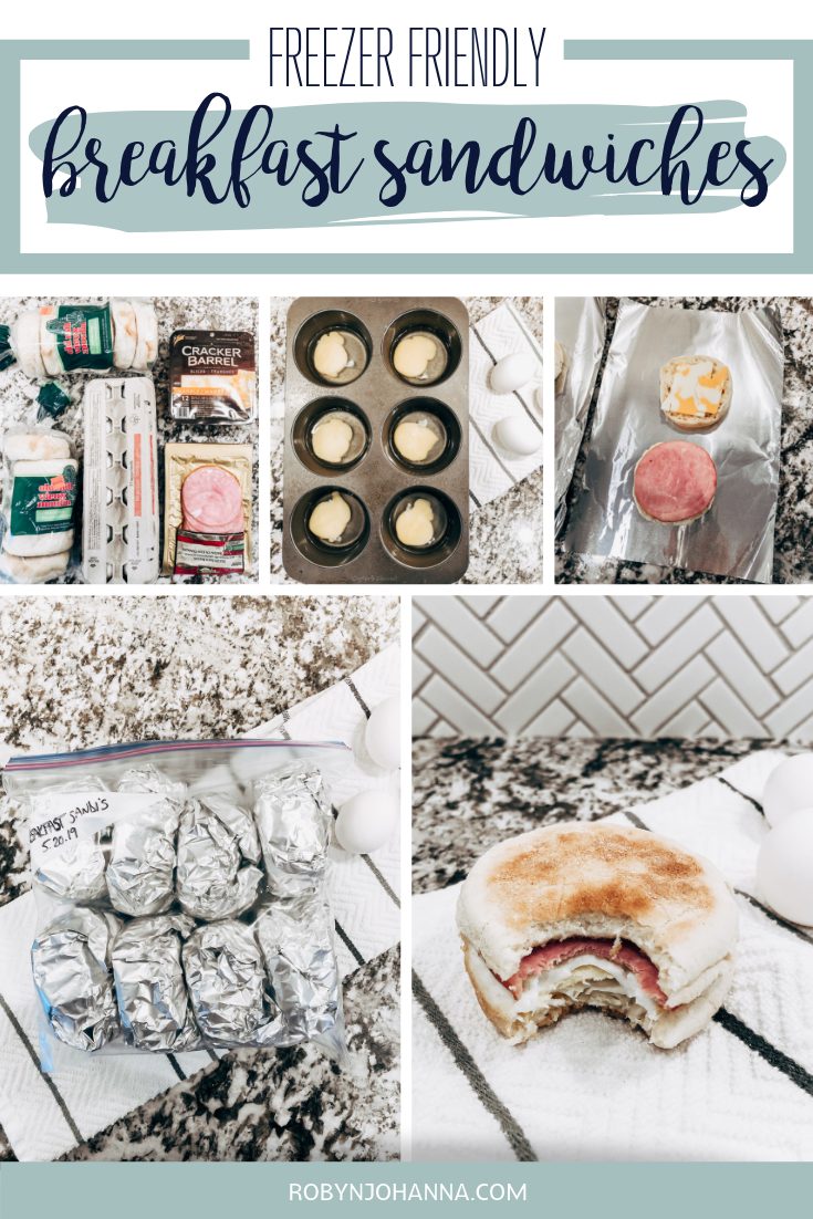 Want to get out the door quicker in the morning without forgoing breakfast? These freezer friendly breakfast sandwiches will do just that!  #freezercooking #freezermeals #makeahead #breakfast