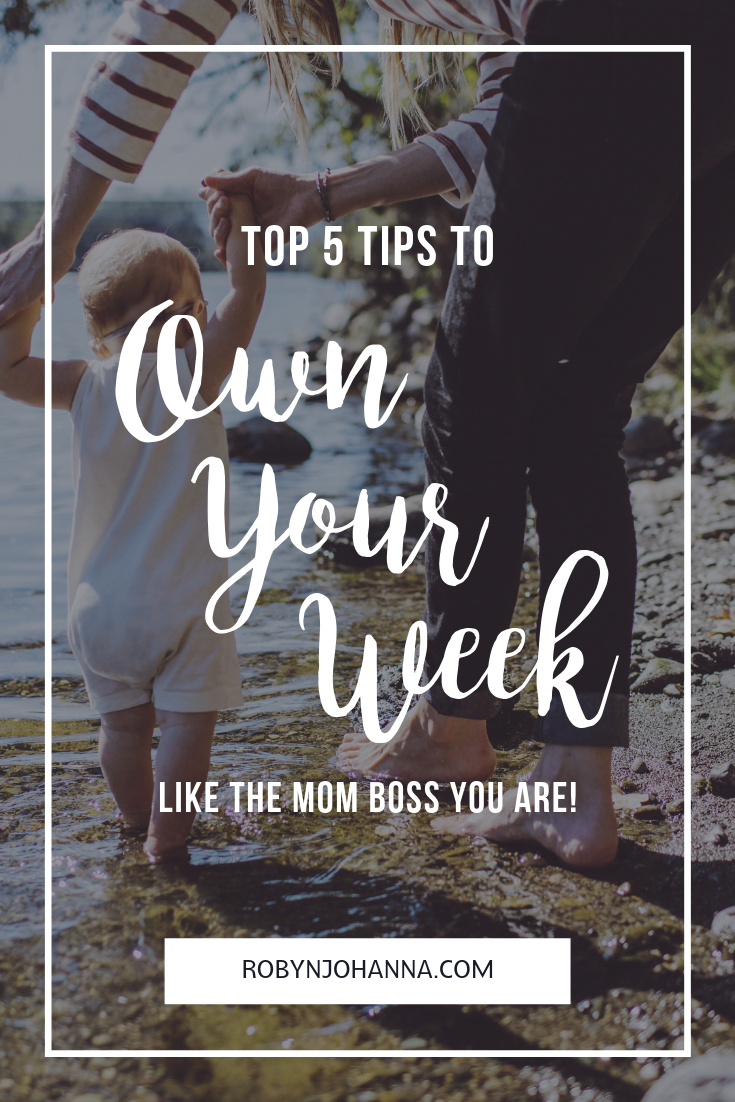 Ever feel like your life is running you? That's about to stop. Start running your life TODAY with my top five tips to own your week!