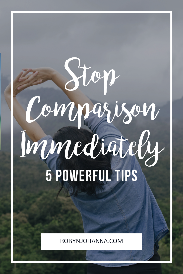 Comparison not only steals our joy, it prevents us from fully living our lives. Here are five powerful tips to stop the comparison game immediately!  #comparison #powerful #tips