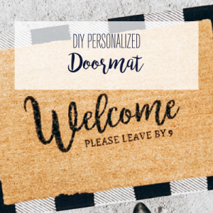 First impressions are lasting, so why not welcome your guests with personality & style?! This step-by-step tutorial walks you through how to just that, by creating your very own DIY personalized doormat.