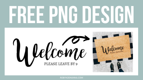 *FREE PNG* First impressions are lasting, so why not welcome your guests with personality & style?! This step-by-step tutorial walks you through how to just that, by creating your very own DIY personalized doormat.