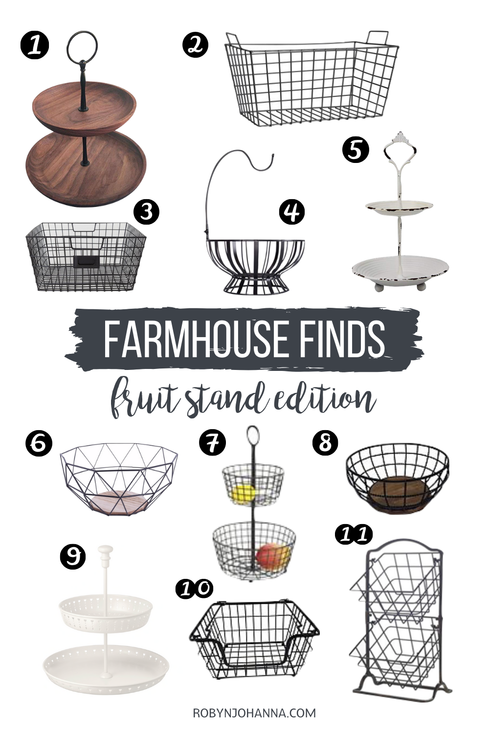 On the search for a farmhouse fruit stand? Look no further. I've got you covered! Check out my favourite farmhouse finds ranging from $9 to $40.