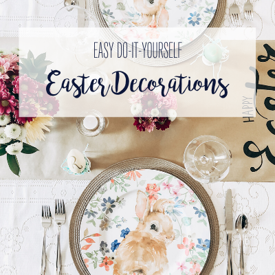 Dress up your dinner table, gifts and mantel holiday ready with these four easy DIY Easter decorations. Keep reading for the step by step tutorials!