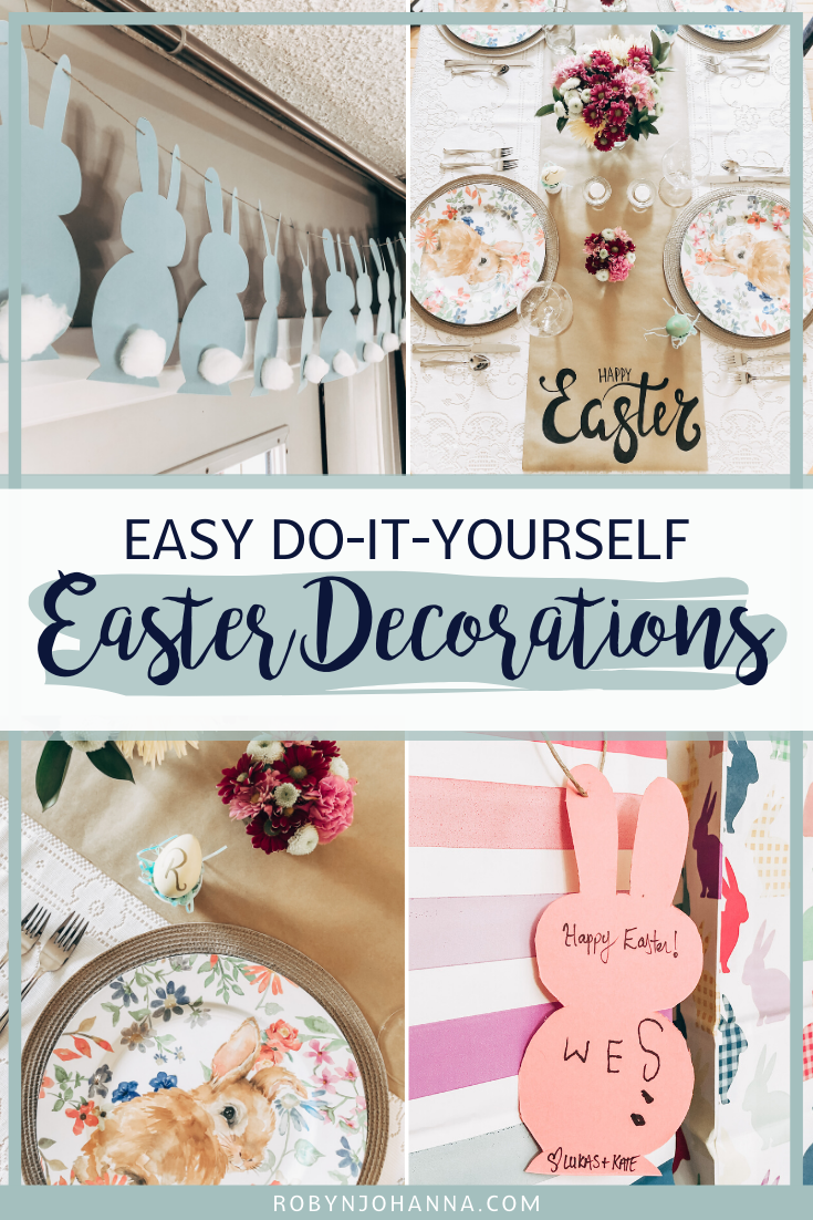 Dress up your dinner table, gifts and mantel with these four easy DIY Easter decorations. Keep reading for the step by step tutorials!