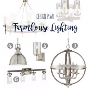 Having a hard time finding coordinating light fixtures for your open floor plan? Look no further! Here are two farmhouse lighting design plans that are sure to make an impact.