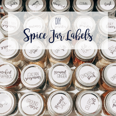 Transform your spices from hot mess to organized success with these DIY spice jar labels. Click to read more and for your free download!