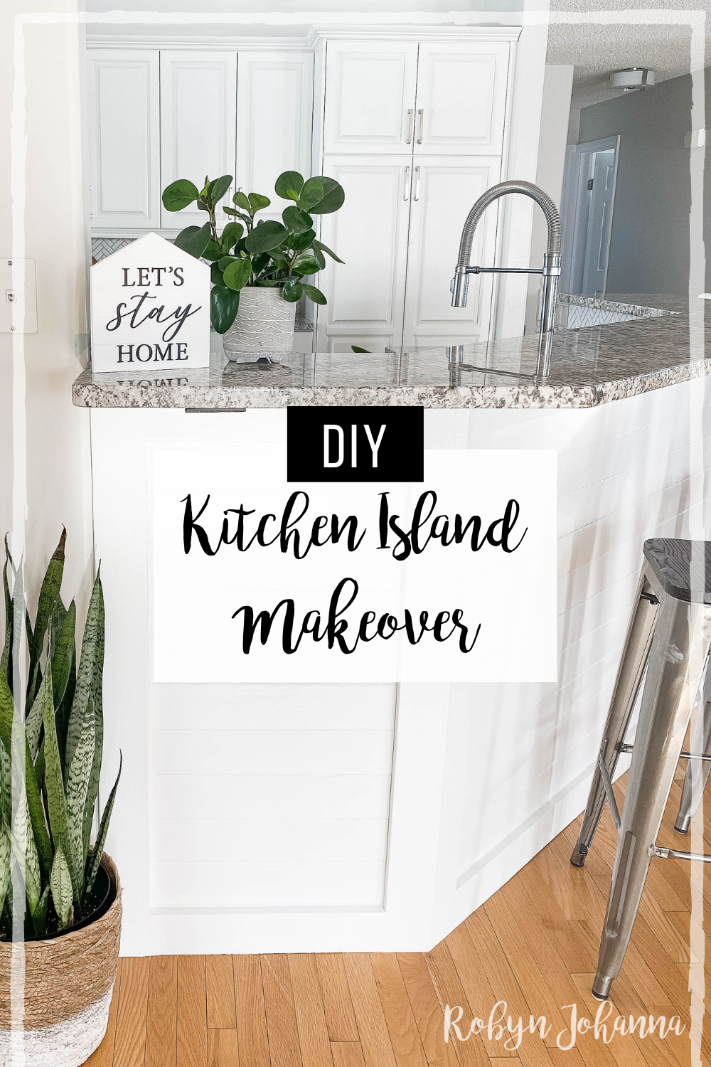Are you thinking of updating your kitchen island? Check out this step-by-step horizontal plank tutorial that will help you do just that.
