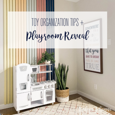 Playroom REVEAL + Toy Organization Tips