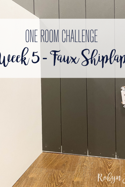 Today marks week 5 of the Spring 2021 One Room Challenge! Read more about the progress we made on our home office this week.
