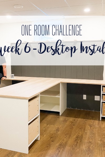 Today marks week 6 of the Spring 2021 One Room Challenge and the room actually looks like an office! Click to check it out.